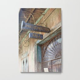 New Orleans Jazz Club Metal Print