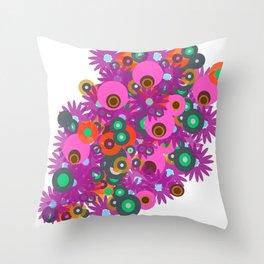 flower circles corsage Throw Pillow