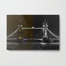 Tower Bridge color and monochrome Metal Print