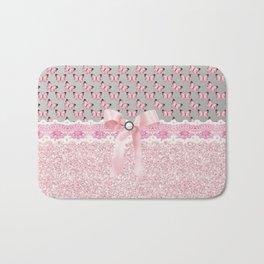 Butterflies in Pink Bath Mat