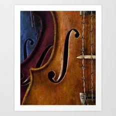 Violin Composition Art Print