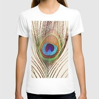 peacock feather T-shirts featuring Peacock by Laura Ruth