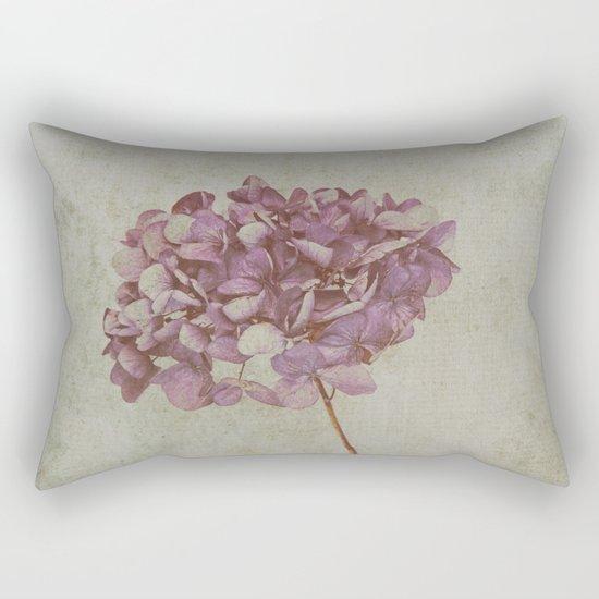 Vintage Hydrangea Rectangular Pillow