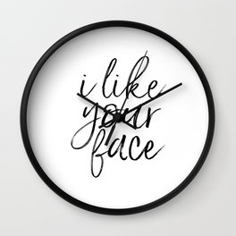 PRINTABLE ART Love Sign I Like Your Face Valentines Day Decor Gift For Her Romantic Gifts For Him En Wall Clock