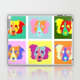 Border Collie Pop Art Laptop & iPad Skin