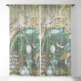Mad Hatter Sheer Curtain