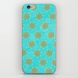 Mint Chip Flowers iPhone Skin