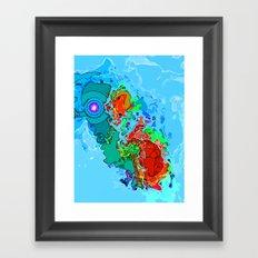Sky Blue Outburst  Framed Art Print