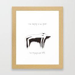 GOOD/SAFE Framed Art Print