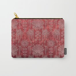 Victorian Potpourri - Faded Splendor Damask - RUBY Carry-All Pouch