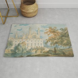 """J.M.W. Turner """"Clare Hall and King's College Chapel, Cambridge, from the Banks of the River Cam"""" Rug"""