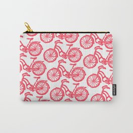 roule ma poule - wanna ride my bicycle red Carry-All Pouch