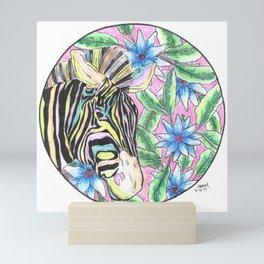 Neon Zebra Mini Art Print