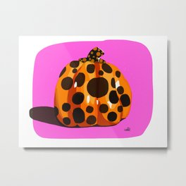 Kusama's Pumpkin Metal Print