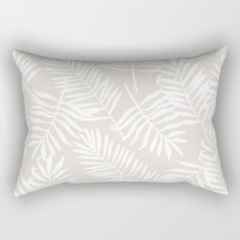 Tropical Palm Leaves - Palm Leaf Pattern - Sandy Beige Rectangular Pillow