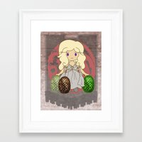 mother of dragons Framed Art Prints featuring Mother of Dragons by Cosmic Lab Creations
