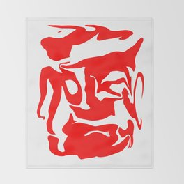 face3 red Throw Blanket