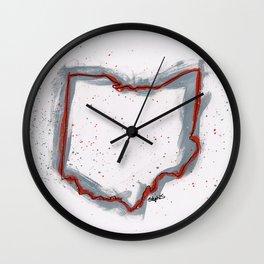Buckeyes Ohio Wall Clock