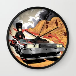 Back to the Future III (Three) Wall Clock