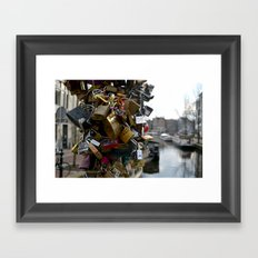Lovers locks Framed Art Print