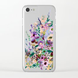 Scarlett Floral Pastel Clear iPhone Case
