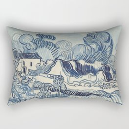 Landscape with Houses Rectangular Pillow