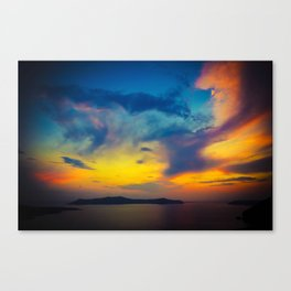 My sunset Canvas Print
