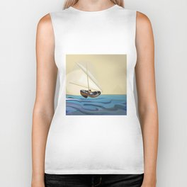 May over the Nile - shoes stories Biker Tank
