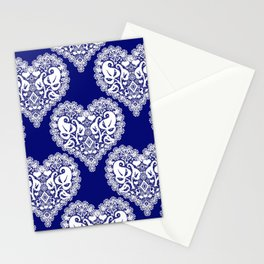 Lace heart 2 Stationery Cards