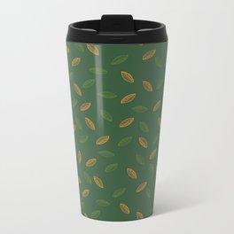Second Leafy pattern Metal Travel Mug