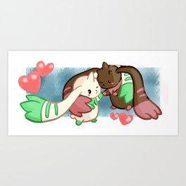 Digi-Siblings Art Print