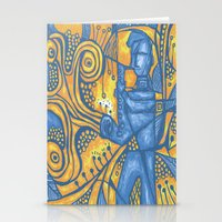 saxophone Stationery Cards featuring Saxophone by tempehmonster