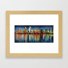 San Diego Panorama Framed Art Print