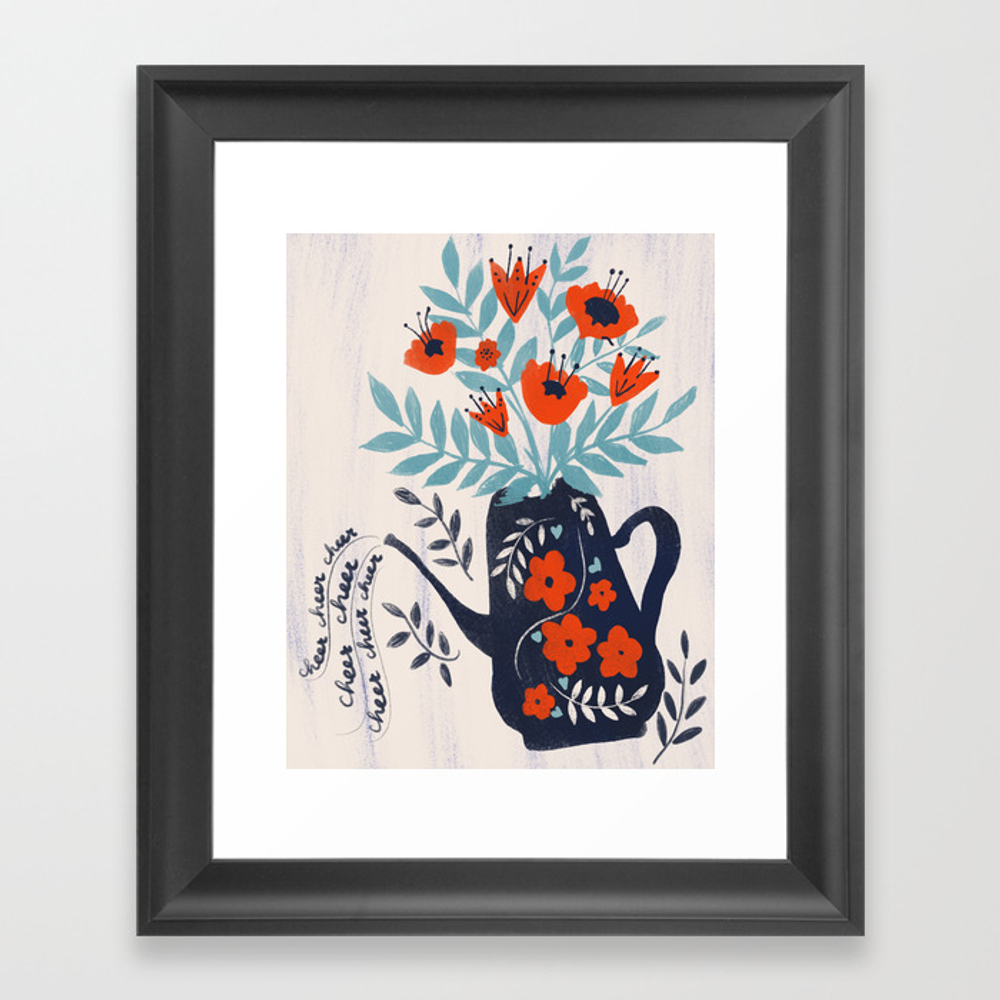 Cup Of Cheer Framed Artwork by Katejoycreative FRM8522319