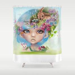 ELIZA - MUNCHKIN EASTER ELF - SHEENA PIKE Shower Curtain