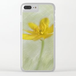 In yellow-green tones Clear iPhone Case