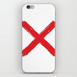 Red X on white background. #society6 #decor #buyart #artprint iPhone Skin