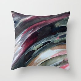 Abstract Ink Smear  Throw Pillow