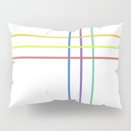 Minimal Rainbow Line Pattern Pillow Sham