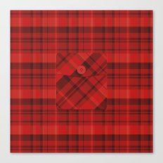 Plaid Pocket - Red Canvas Print