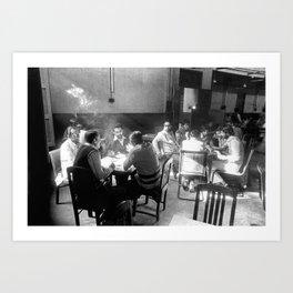 Kolkata coffee house Art Print