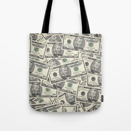 Collage of Currency Graphic Tote Bag