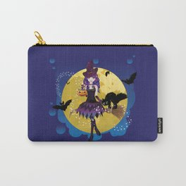 Flying witch illustration Carry-All Pouch