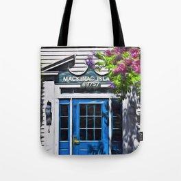 Blue Door Tote Bag