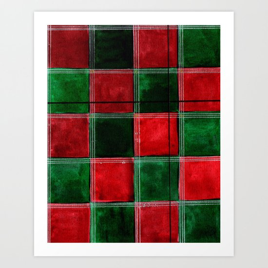 Let's Plaid 2  Art Print