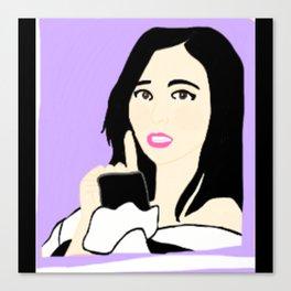 Knock Knock! Mina Purple Canvas Print