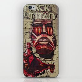 New York City, Manhattan, wall mural Attack On Titan, graffiti (2019-GNY12) iPhone Skin