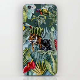 Jungle with tiger and tucan iPhone Skin