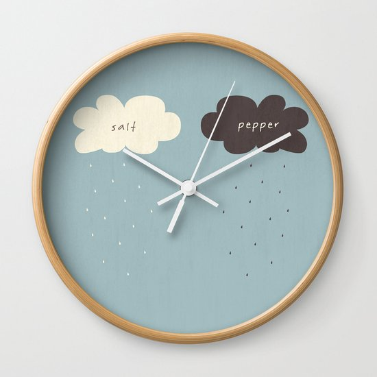 Salt & Pepper Wall Clock