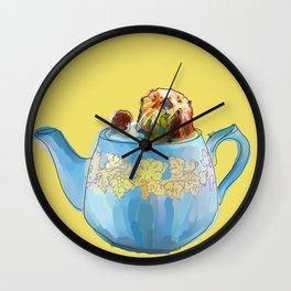 Otter Teapot Wall Clock